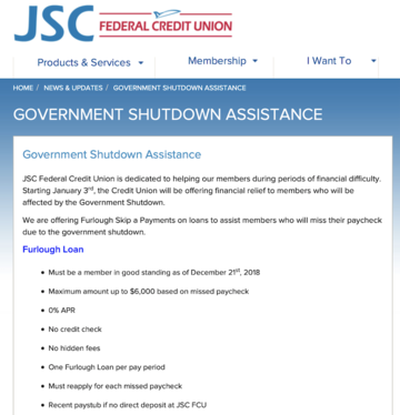 As Shutdown Continues, at Least 90 Credit Unions Now