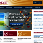 Sites To Be Seen: Catalyst Corporate, Catalyst Strategic Solutions Overhaul Websites