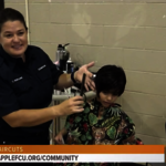 Apple FCU Supports Free Haircuts for Kids